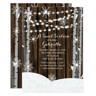 Dreamy Woodland Forest Sweet16 Birthday Invitation