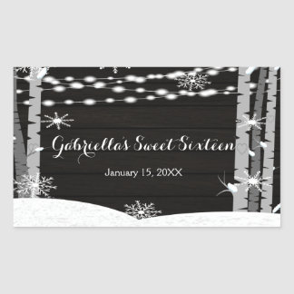 Dreamy Woodland Forest Sweet Sixteen  Stickers