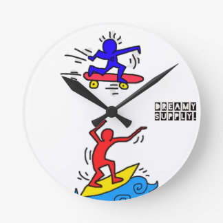 DreamySupply Cali Lifestyle Pop Art Round Clock