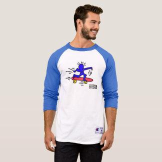 DreamySupply Pop Art SkateBoard Man Raglan Shirt