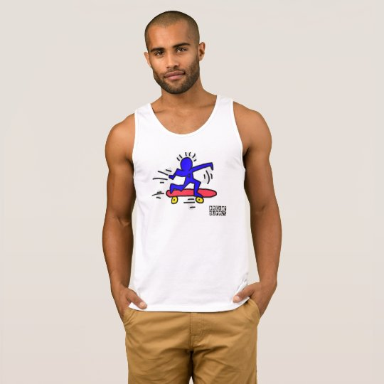 DreamySupply Pop Art SkateBoard Man TankTop