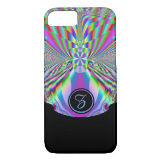 Dreamz V with Bottom Black frame (monogram) iPhone 7 Case