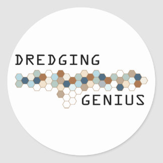Dredging Genius Round Stickers