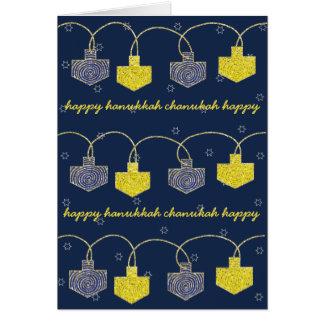 """Dreidel Banner"" Hanukkah Card w Envelope"