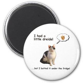 Dreidel Cat Magnet