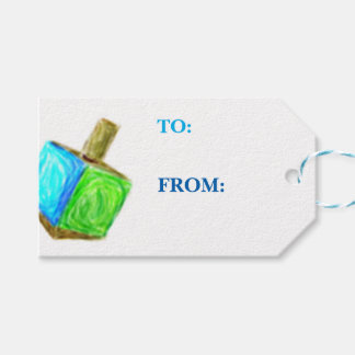 Dreidel Gift Tag-Horizontal Pack Of Gift Tags