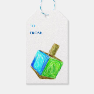 Dreidel Gift Tag-Vertical Pack Of Gift Tags