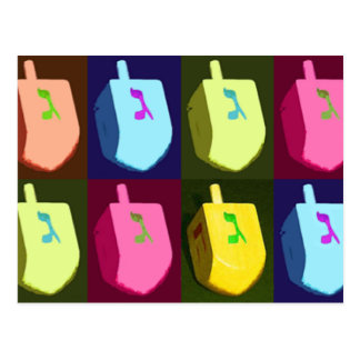 Dreidel Hanukkah Postcard