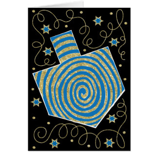 """Dreidel Pinwheel"" Greeting Card w Envelope"