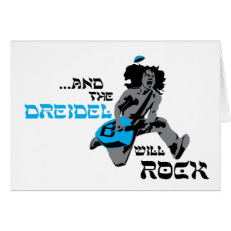 Dreidel Rock Chanukah Card