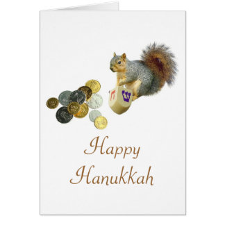 Dreidel Squirrel Card