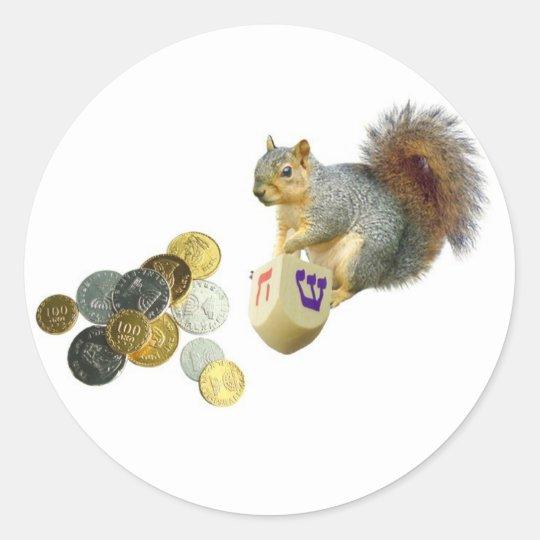 Dreidel squirrel sticker