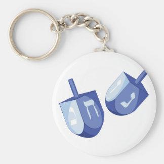 Dreidels Basic Round Button Keychain