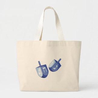 Dreidels Large Tote Bag