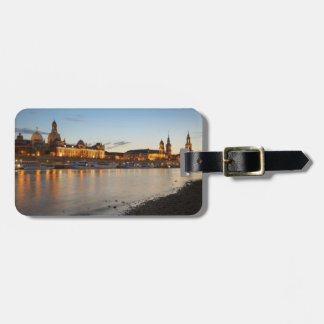 Dresden Elbe view Luggage Tag