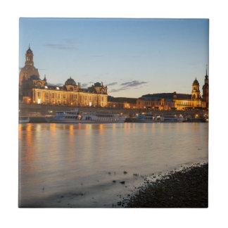 Dresden Elbe view Tile