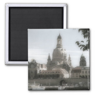Dresden Frauenkirche / Church of Our Lady Square Magnet