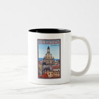 Dresden - Frauenkirche Two-Tone Coffee Mug