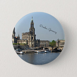 Dresden, Germany cityscape 2 Inch Round Button