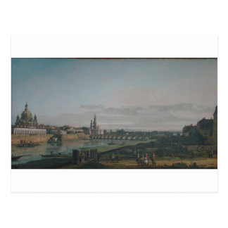 Dresden seen from right bank of the Elbe Postcard