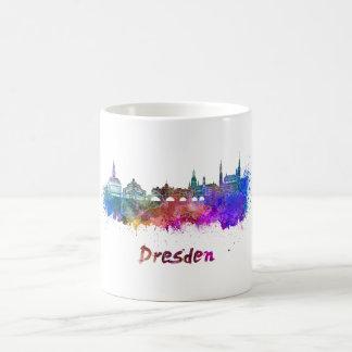 Dresden skyline in watercolor coffee mug
