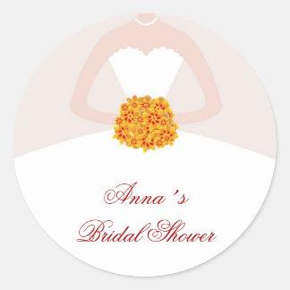 Dress Bridal Shower Favor Labels Fall
