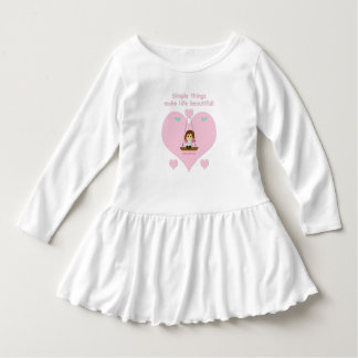 Dress for adorable girl with pink heart