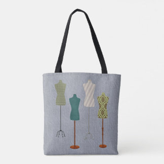 Dress Form Design Tote Bag