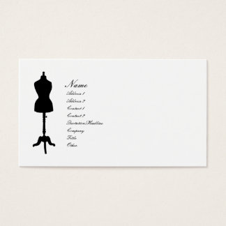 Dress Form II Silhouette v. 2 Business Card