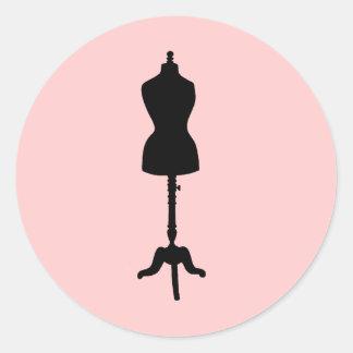 Dress Form Silhouette II Classic Round Sticker
