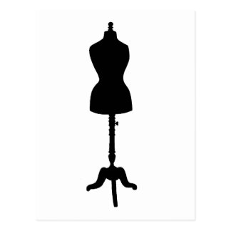 Dress Form Silhouette II Postcard