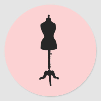 Dress Form Silhouette II Round Sticker