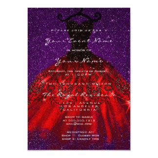 Dress Glitter Gothic Bridal Velvet Violet Red Blac Card