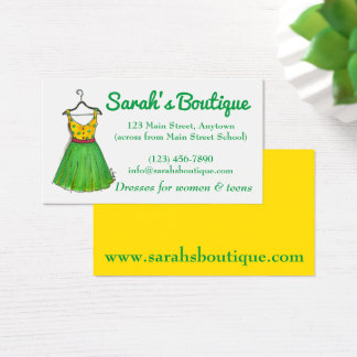 Dress Hanger Wardrobe Clothing Shopping Boutique Business Card