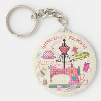 Dress Makers, Sewing Room Key Ring