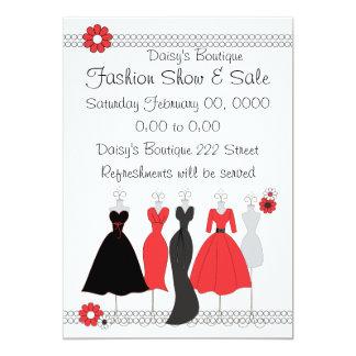 Dress shop invitations announcements zazzle canada dress shop daisy theme card stopboris Choice Image