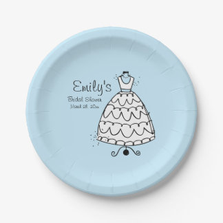 Dress Stand Bride (B) 7 Inch Paper Plate