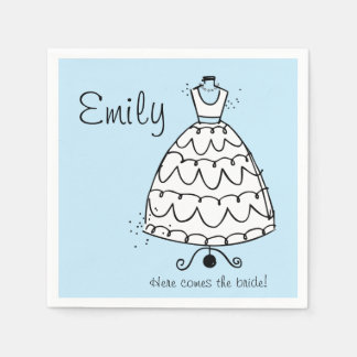 Dress Stand Bride Paper Napkins
