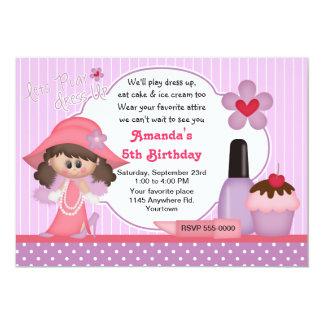 "Dress Up Birthday Party 5"" X 7"" Invitation Card"