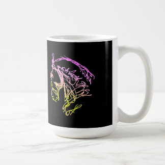 Dressage 2 Horse Heads Mug Black