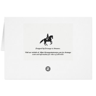 Dressage Blank Cards - Mosaic Horse and Rider