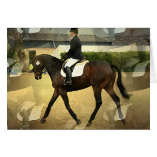 Dressage Competition Greeting Card
