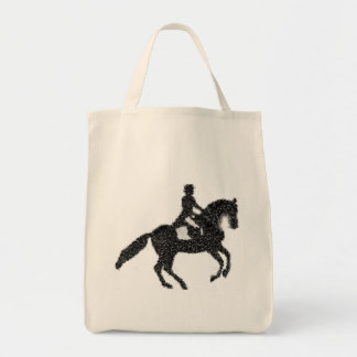 Dressage Grocery Tote - Mosaic Horse and Rider