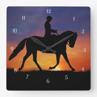 Dressage Horse and Rider Clock