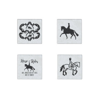 Dressage horse and rider Magnets Stone Magnets
