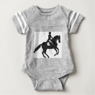 Dressage Horse and Rider Mosaic Design Baby Bodysuit