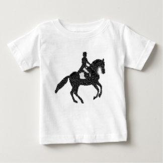 Dressage Horse and Rider Mosaic Design Baby T-Shirt