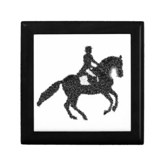 Dressage Horse and Rider Mosaic Design Gift Box