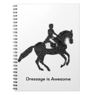 Dressage Horse and Rider Mosaic Design Notebooks