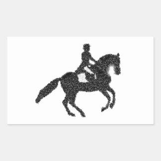 Dressage Horse and Rider Mosaic Design Sticker